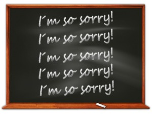 More than saying sorry