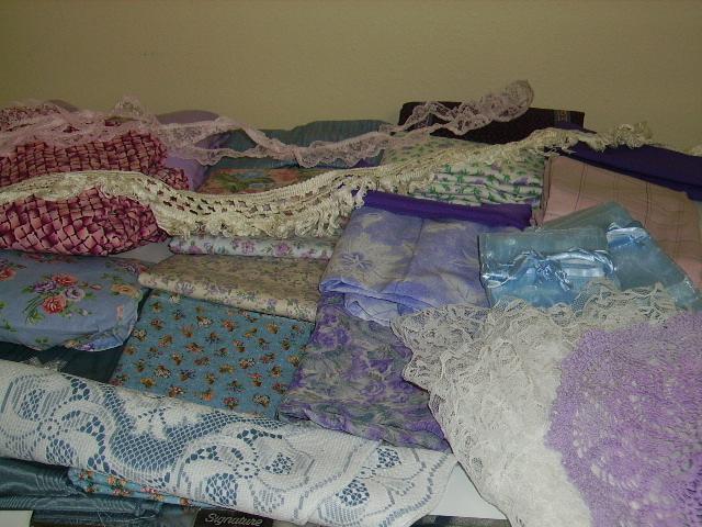 lavender, lace, etc.