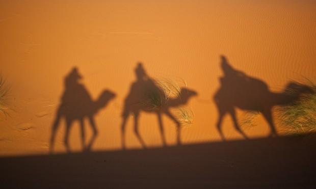 Bringing gifts on camels