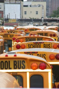 School buses congestion