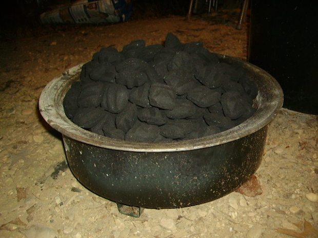Enough charcoal for 12 hours.