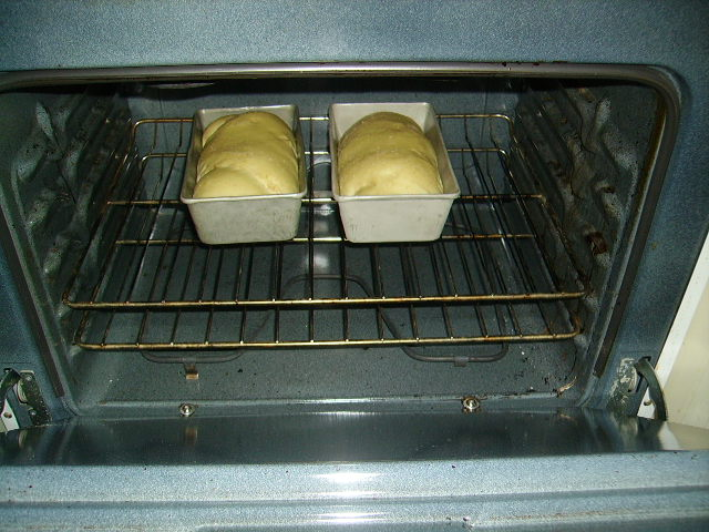 Bread baking.