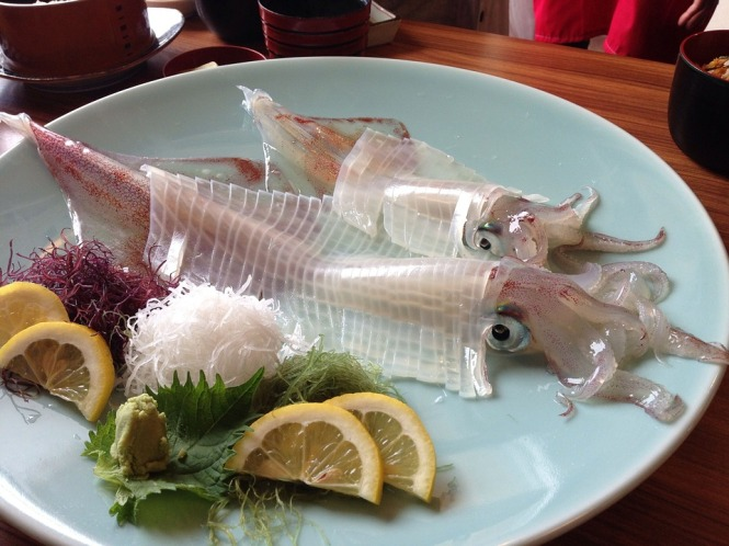 Squid served at a restaurant