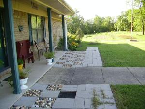 Before the front patio was finished