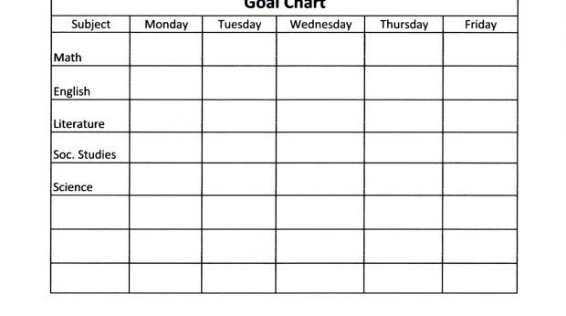 Child's goal schedule