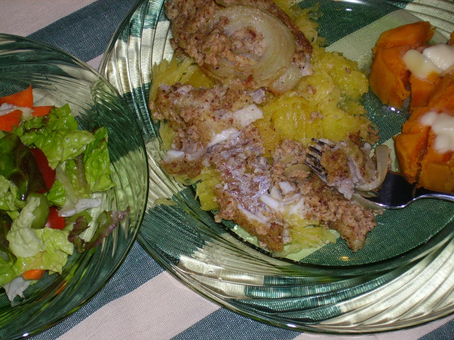 Delicious catfish dinner