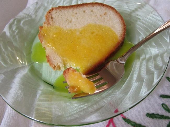 Rosemary cake with glaze ready to eat!